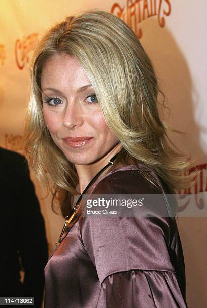 Kelly Ripa during 'Curtains' Broadway Opening Night Arrivals March 22 2007 at Hirschfeld Theatre in New York City New York United States