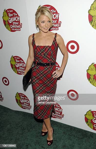 Kelly Ripa during Dr Seuss' How the Grinch Stole Christmas The Musical Broadway Premiere at Hilton Theater in New York City New York United States