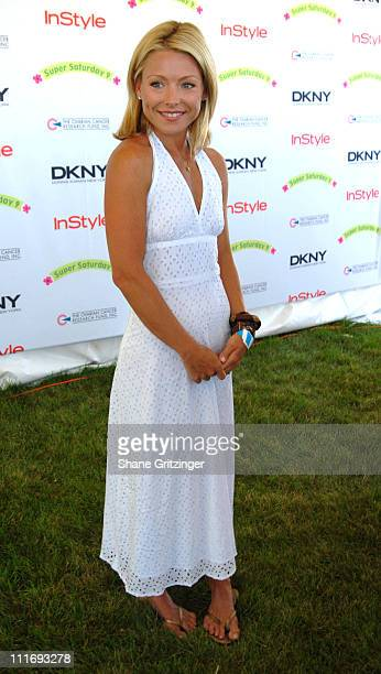 Kelly Ripa during Kelly Ripa Donna Karan and InStyle Magazine Host Super Saturday 9 To Benefit The Ovarian Cancer Research Fund at Nova's Ark Project...