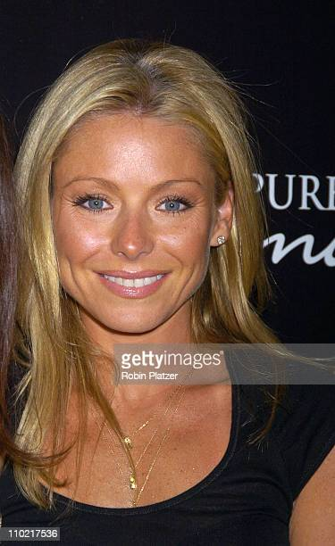 Kelly Ripa during 'Living with Fran' Premiere Party Sponsored by PureRomancecom at Cain Lounge in New York City New York United States