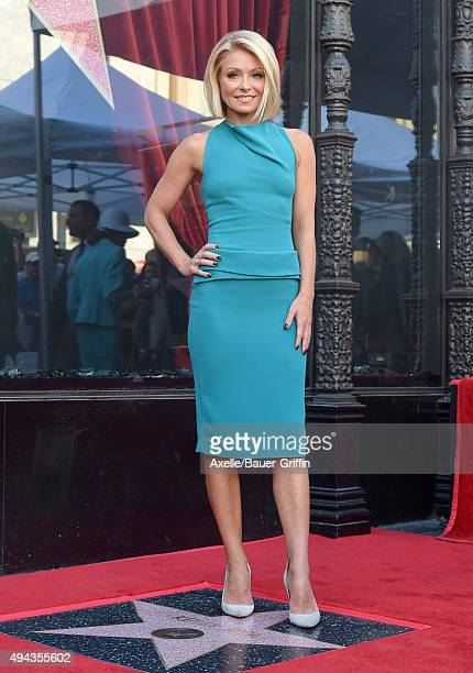 Kelly Ripa is honored with a star on the Hollywood Walk of Fame on October 12 2015 in Hollywood California