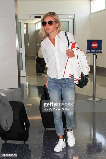 Kelly Ripa is seen at LAX on August 24 2016 in Los Angeles California