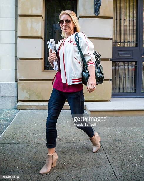 Kelly Ripa is seen heading to work on May 12 2016 in New York New York