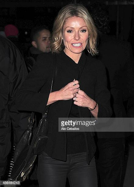 Kelly Ripa is seen on December 13 2013 in New York City