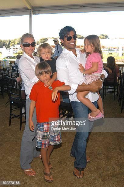 Kelly Ripa Joaquin Antonio Consuelos Michael Joseph Consuelos Mark Consuelos and Lola Grace Consuelos attend Fendi Cup Jumper Competition Hampton...
