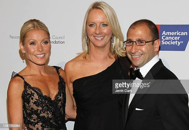 Kelly Ripa Linda Wells and Jonathan Zrihen attend the 27th annual DreamBall at Cipriani 42nd Street on September 22 2011 in New York City