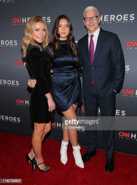 Kelly Ripa Lola Grace Consuelos and Anderson Cooper attend the 13th Annual CNN Heroes at the American Museum of Natural History on December 08 2019...