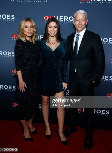 Kelly Ripa Lola Grace Consuelos and Anderson Cooper attends 12th Annual CNN Heroes An AllStar Tribute at American Museum of Natural History on...