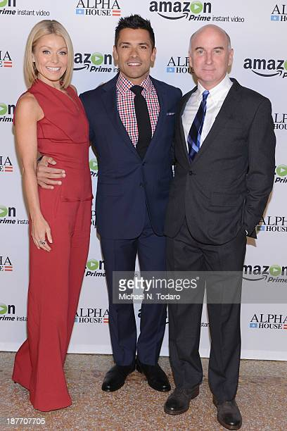 Kelly Ripa Mark Consuelos and Matt Malloy attend Amazon Studios Premiere Screening for 'Alpha House' on November 11 2013 in New York City