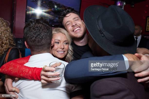 Kelly Ripa Mark Consuelos Cheyenne Parker Jorge Bustillos and Khasan Brailsford attend Logo TV Fire Island Premiere Party at Atlas Social Club on...