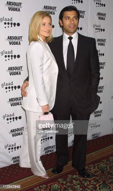 Kelly Ripa & Mark Consuelos during The 13th Annual GLAAD Media Awards - New York - Arrivals at New York Marriott Marquis in New York City, New York,...