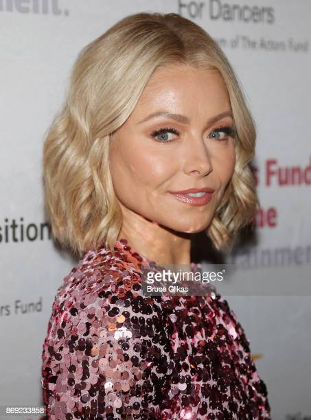 Kelly Ripa poses at The Actors Fund of America's 'Career Transition for Dancers Jubilee Gala' at The Marriott Marquis Hotel on November 1 2017 in New...