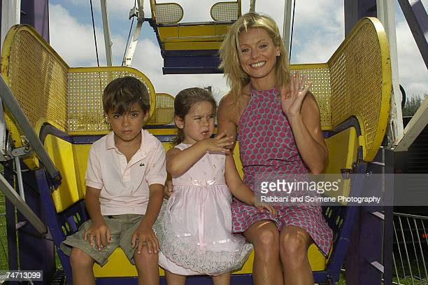 Kelly Ripa son Michael and daughter Lola at the Nova's Ark Project in Water Mill New York