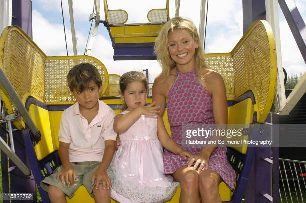 Kelly Ripa son Michael and daughter Lola during Super Saturday 7 Benefitting The Ovarian Cancer Research Fund at Nova's Ark Project in Water Mill New...