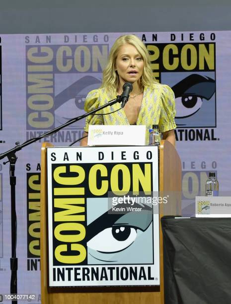 Kelly Ripa speaks onstage at the Riverdale special video presentation and QA during ComicCon International 2018 at San Diego Convention Center on...