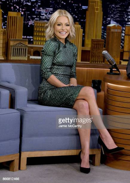 Kelly Ripa visits The Tonight Show Starring Jimmy Fallon at Rockefeller Center on October 26 2017 in New York City