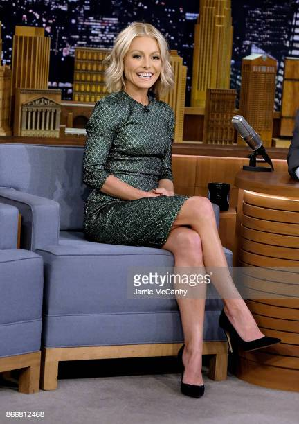 Kelly Ripa visits 'The Tonight Show Starring Jimmy Fallon' at Rockefeller Center on October 26 2017 in New York City
