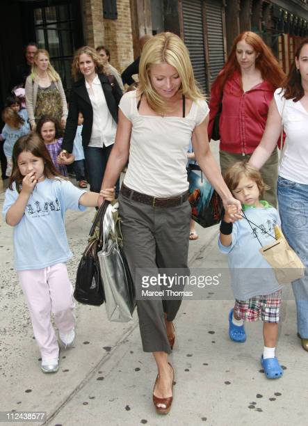 Kelly Ripa with children Joaquin and Lola during Kelly Ripa Sighting in New York June 13 2007 at Soho House in New York United States