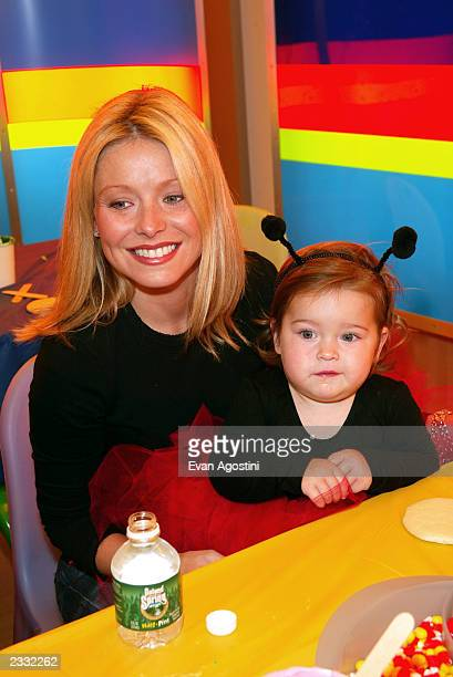 Kelly Ripa with daughter Lola at a Halloween party to benefit New York Weill Cornell Medical Center's Big Apple Circus Clown Care Unit at Dylan's...