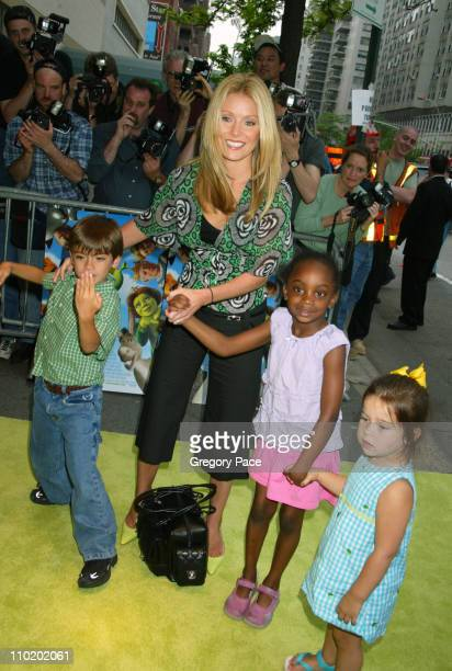 Kelly Ripa with her son Michael friend Chloe and her daughter Lola