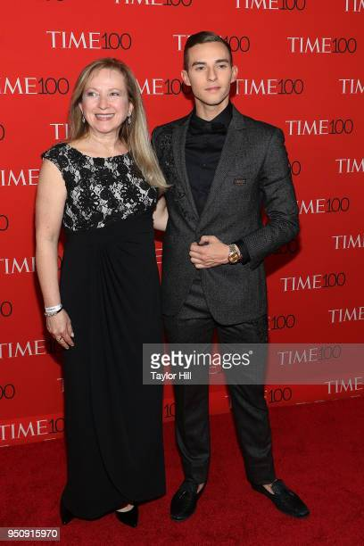 Kelly Rippon and Adam Rippon attend the 2018 Time 100 Gala at Frederick P Rose Hall Jazz at Lincoln Center on April 24 2018 in New York City