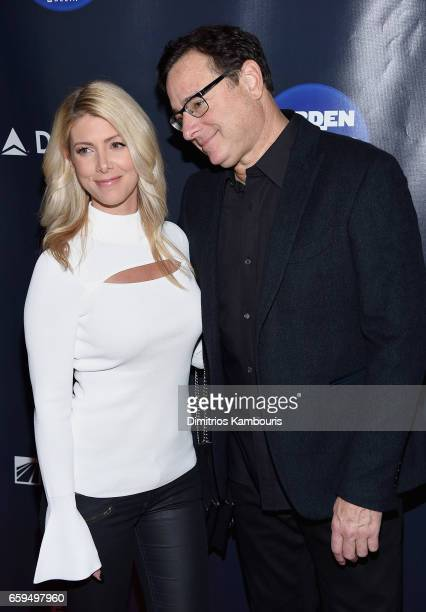 Kelly Rizzo and Bob Saget attend the 2017 Garden Of Laughs Comedy Benefit at The Theater at Madison Square Garden on March 28 2017 in New York City