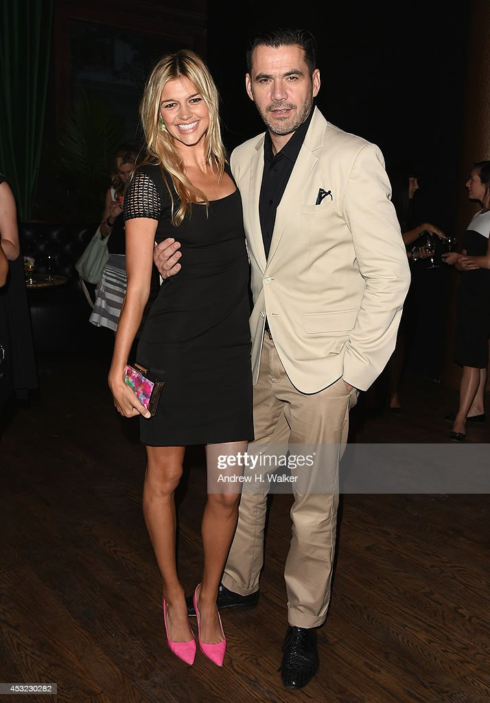 Kelly Rohrbach and Designer Roland Mouret attend the Roland Mouret for Banana Republic Collection Launch on August 5, 2014 at White Street Restaurant in New York City.