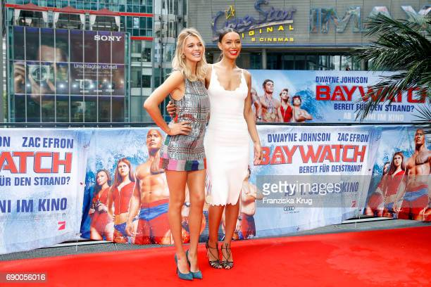 Kelly Rohrbach and Ilfenesh Hadera attend the 'Baywatch' Photo Call in Berlin on May 30 2017 in Berlin Germany