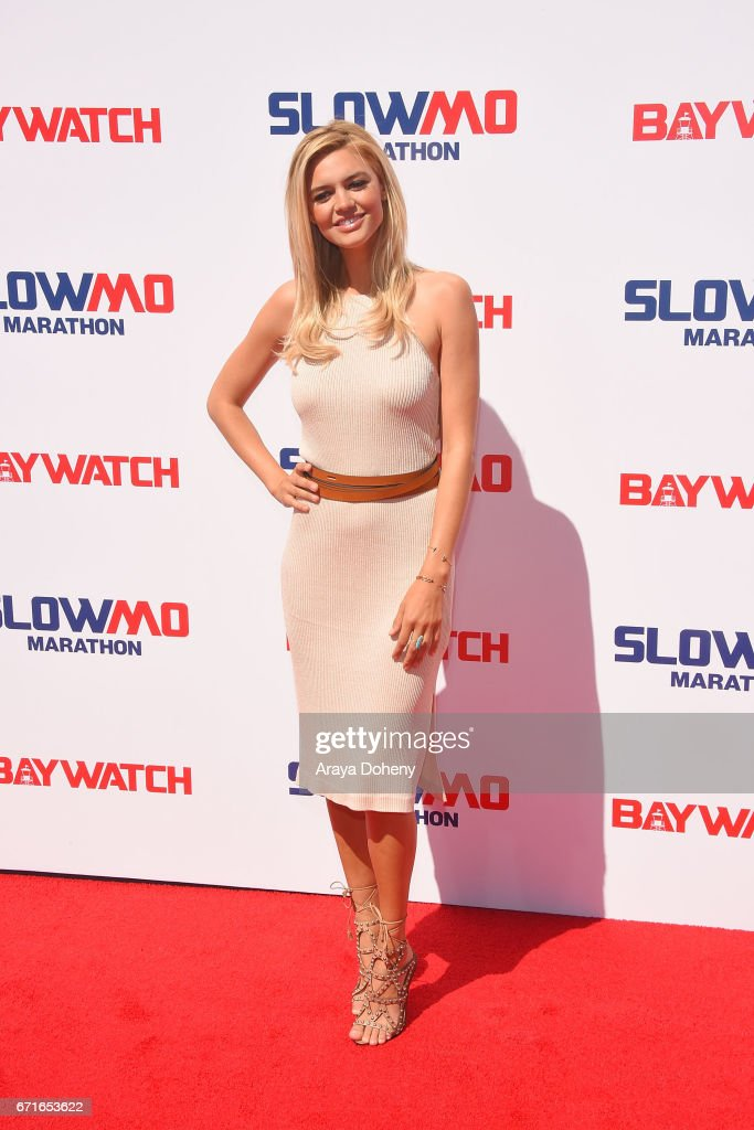 Kelly Rohrbach attends the The 'Baywatch' SlowMo Marathon at Microsoft Square on April 22, 2017 in Los Angeles, California.