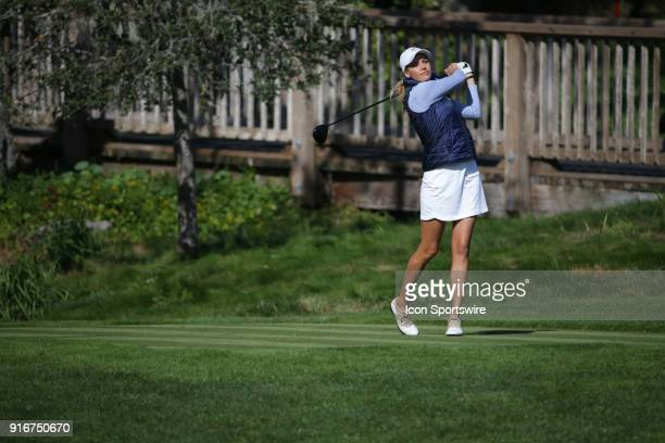BEACH CA FEBRUARY Kelly Rohrbach competes in the third round during the ATT Pebble Beach ProAm PGA tournament on February 10 at Pebble Beach Golf...
