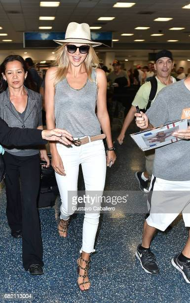 Kelly Rohrbach is seen at the Miami International Airport on May 11 2017 in Miami Florida