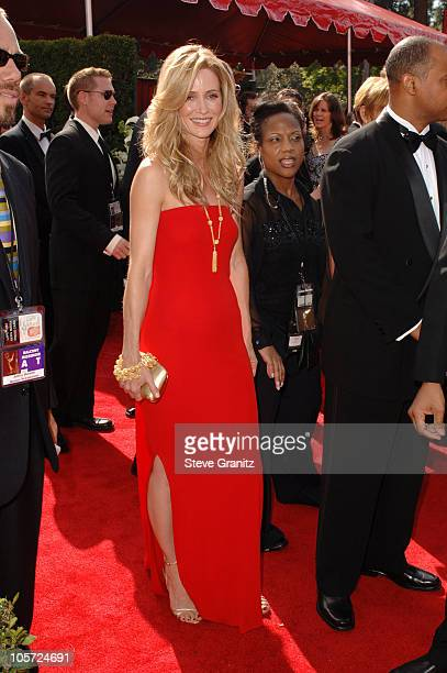 Kelly Rowan during The 57th Annual Emmy Awards Arrivals at Shrine Auditorium in Los Angeles California United States