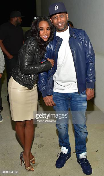 Kelly Rowland and Alex Gidewon Attend 'Ludaversal' Album release party hosted by Ludacris Kelly Rowland at Compound on April 4 2015 in Atlanta Georgia