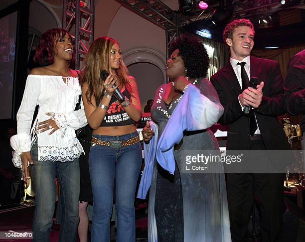 Kelly Rowland and Beyonce Knowles of Destiny's Child Angie Stone and Justin Timberlake of 'N Sync