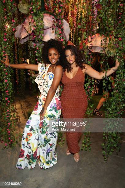 "Kelly Rowland and Dascha Polanco attend ""Refinery29's 29Rooms Turn it Into Art"" on July 25 2018 in Chicago Illinois"