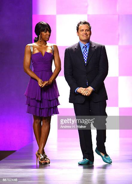 Kelly Rowland and Isaac Mizrahi attend Bravo's 'The Fashion Show' Finale at Cipriani Wall Street on June 26 2009 in New York City