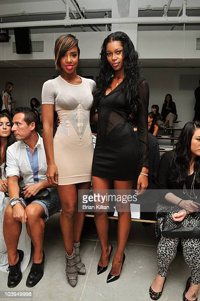 Kelly Rowland and Jessica White attend the Jen Kao Spring 2011 fashion show during Mercedes-Benz Fashion Week at Milk Studios on September 9, 2010 in...
