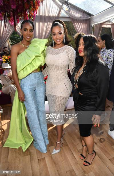 Kelly Rowland and La La Anthony attend 2020 Roc Nation THE BRUNCH on January 25 2020 in Los Angeles California
