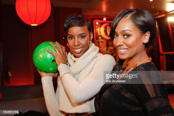 Kelly Rowland and LaLa Vasquez are seen at Lucky Strike Lanes on February 3 2011 in Lakewood Colorado