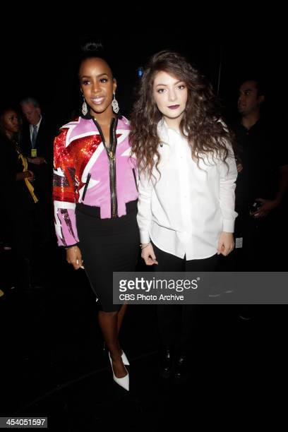 Kelly Rowland and Lorde backstage during the THE GRAMMY NOMINATIONS CONCERT LIVE Ñ COUNTDOWN TO MUSIC'S BIGGEST NIGHT¨ broadcast Friday Dec 6 on the...