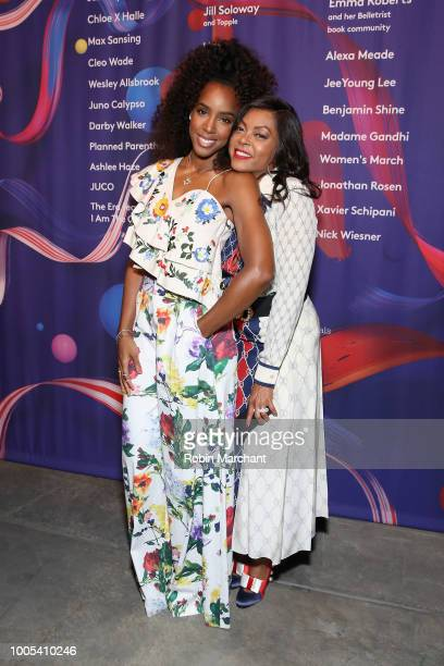 """Kelly Rowland and Taraji P Henson attends """"Refinery29's 29Rooms Turn it Into Art"""" on July 25 2018 in Chicago Illinois"""