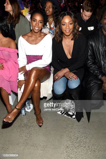 Kelly Rowland and Tiffany Haddish attend the Prabal Gurung Front Row during New York Fashion Week The Shows at Gallery I at Spring Studios on...
