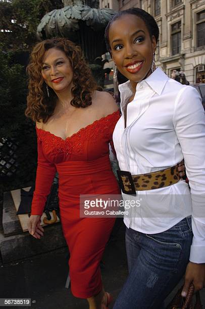 Kelly Rowland and Tina Knowles arrive to Olympus Fashion Week at Bryant Park February 3 2006 in New York City