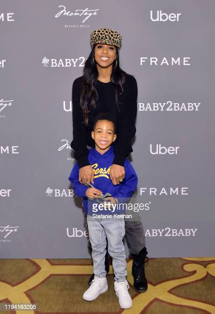 Kelly Rowland and Titan Jewell Weatherspoon attend The Baby2Baby Holiday Party Presented By FRAME And Uber at Montage Beverly Hills on December 15,...