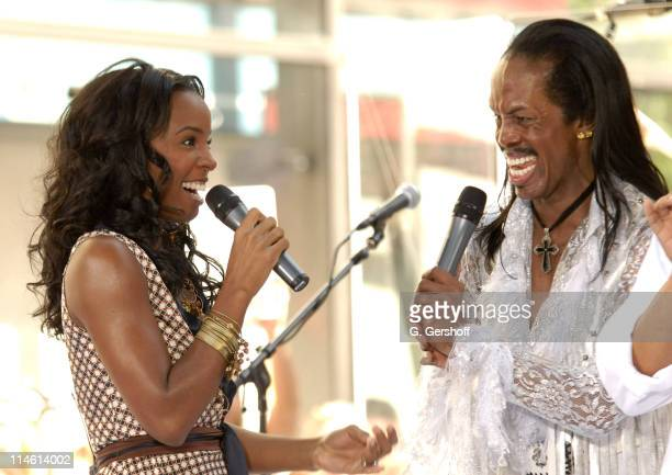 Kelly Rowland and Verdine White during Earth Wind and Fire with Kelly Rowland Perform on NBC's The Today Show Summer Concert Series June 16 2006 at...