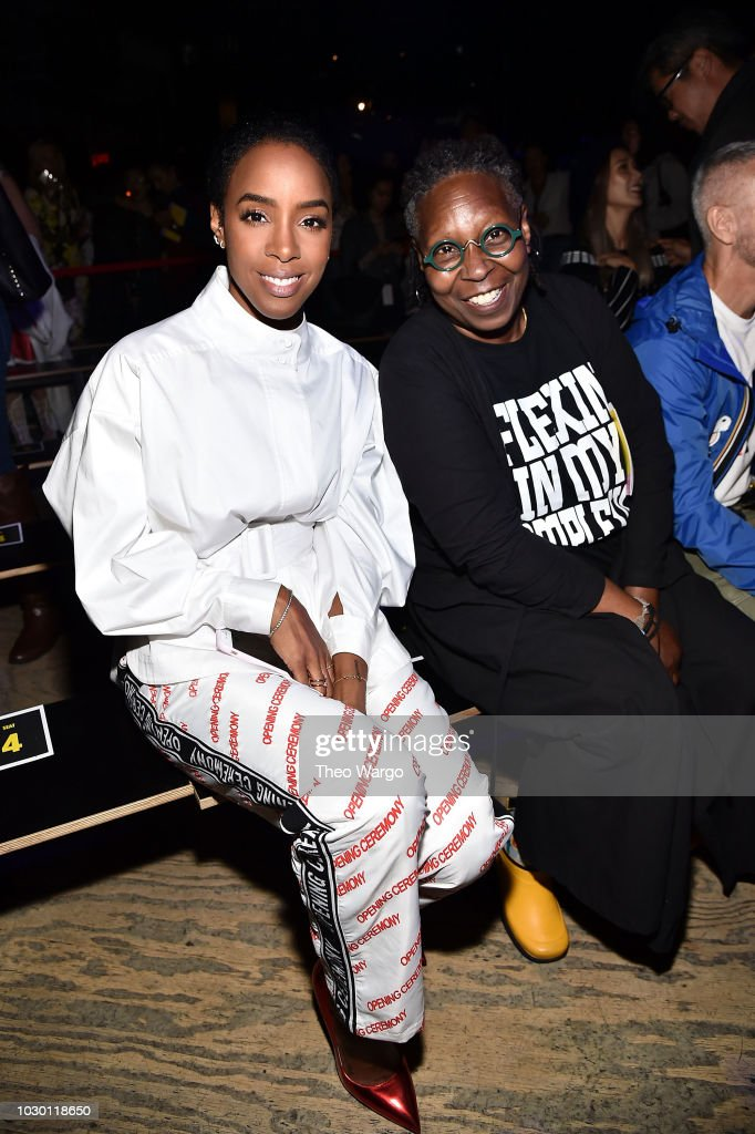 Kelly Rowland and Whoopi Goldberg attend Opening Ceremony - Front Row - September 2018 - New York Fashion Week at Le Poisson Rouge on September 9, 2018 in New York City.