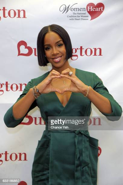 Kelly Rowland and WomenHeart team up with Burlington to #KnockOutHeartDisease at Burlington Union Square on January 31 2017 in New York City