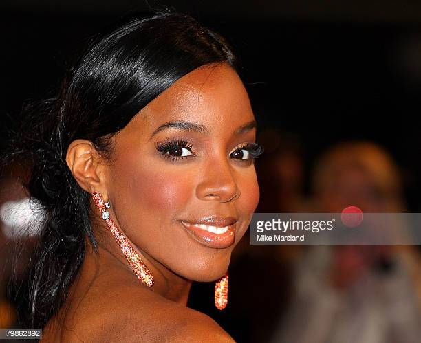 Kelly Rowland arrives at the 2008 Brit Awards held at Earls Court on February 20 2008 in London England