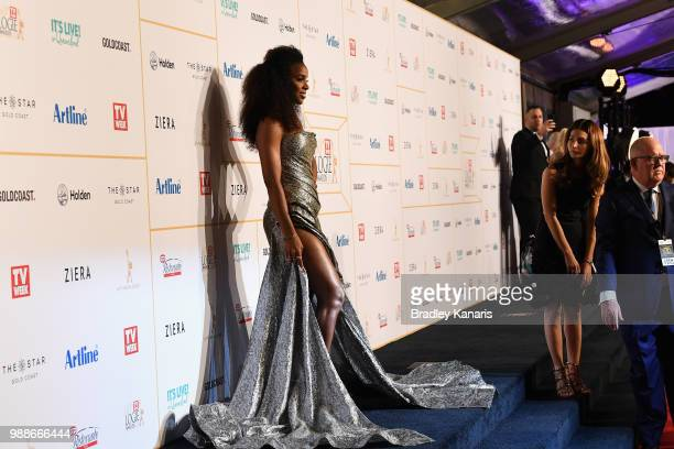 Kelly Rowland arrives at the 60th Annual Logie Awards at The Star Gold Coast on July 1 2018 in Gold Coast Australia