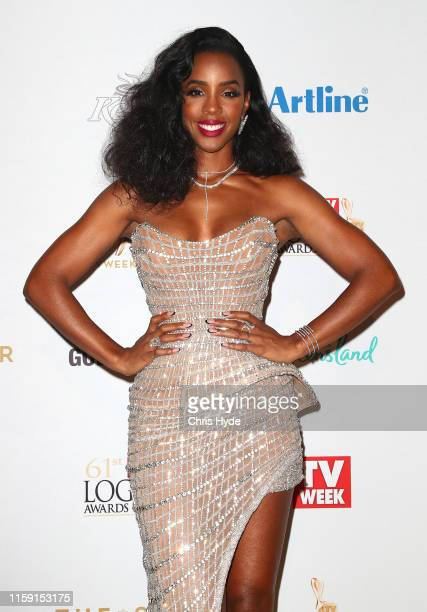 Kelly Rowland arrives at the 61st Annual TV WEEK Logie Awards at The Star Gold Coast on June 30 2019 on the Gold Coast Australia